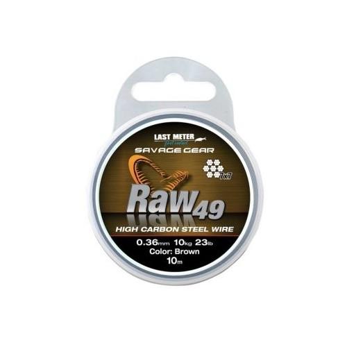 RAW 49 - ocelové lanko - 0,36 mm/11 kg 10 m