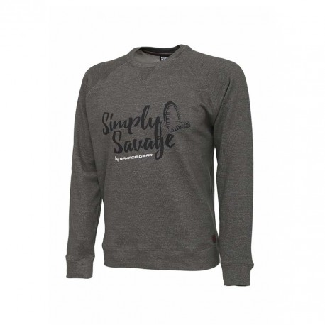Simply Savage Sweater Melange Grey S