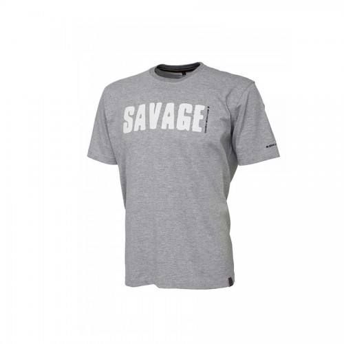 Simply Savage Tee - Light Grey Melangé S