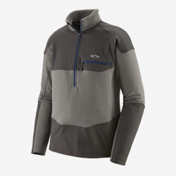 Patagonia Long-Sleeved R1® Fitz Roy 1/4-Zip Feather Grey