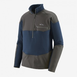 Patagonia Long-Sleeved R1® Fitz Roy 1/4-Zip Stone Blue