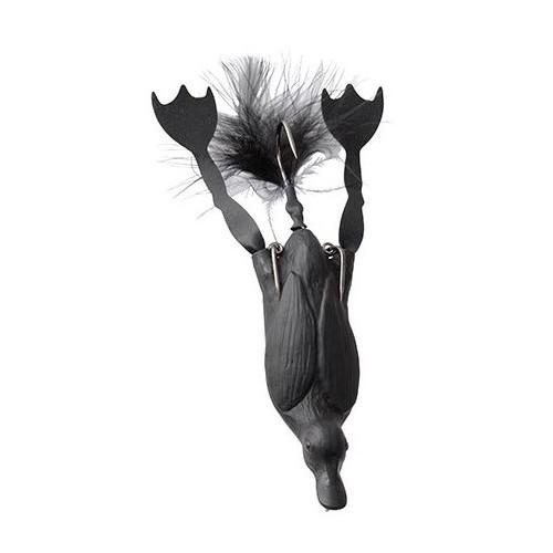 3D Hollow Duckling weedless S 7.5cm 15 g - Black