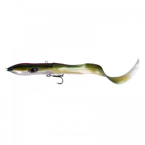 SG 3D Hard Eel Tail Bait 17cm 40g SS 10-Green Silver