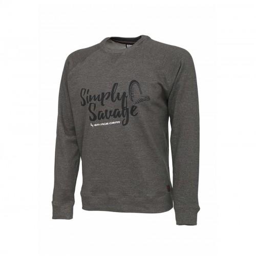 Simply Savage Sweater Melange Grey