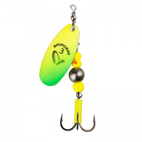 Caviar Spinner, size 2 6 g 07 Fluo Yellow Chartreuse