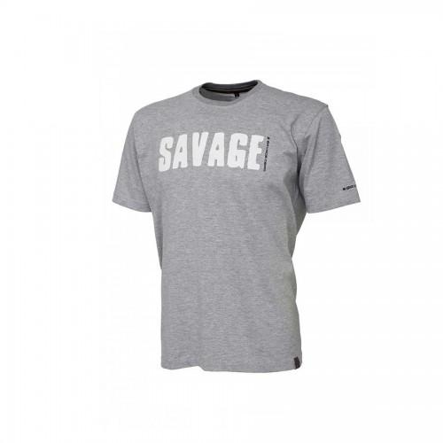 Simply Savage Tee - Light Grey Melangé S